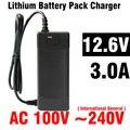 1 Unidades de Baterías Ensambladas 18650 Li-ion Cargador de Batería 12.6 V 3A 5.5mm X 1.2mm de LA UE REINO UNIDO EE.UU. Enchufe Para Alimentación monociclo