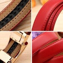 Classic Ladies Genuine Leather Automatic Buckle Belt