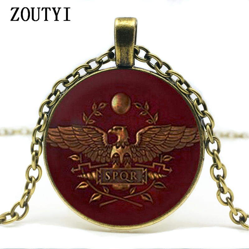 2018/ Gamer Total Battle Roman Glass Pendant Necklace Jewelry Female Men's Gift Vintage Antique Glamour Retro Doctors.