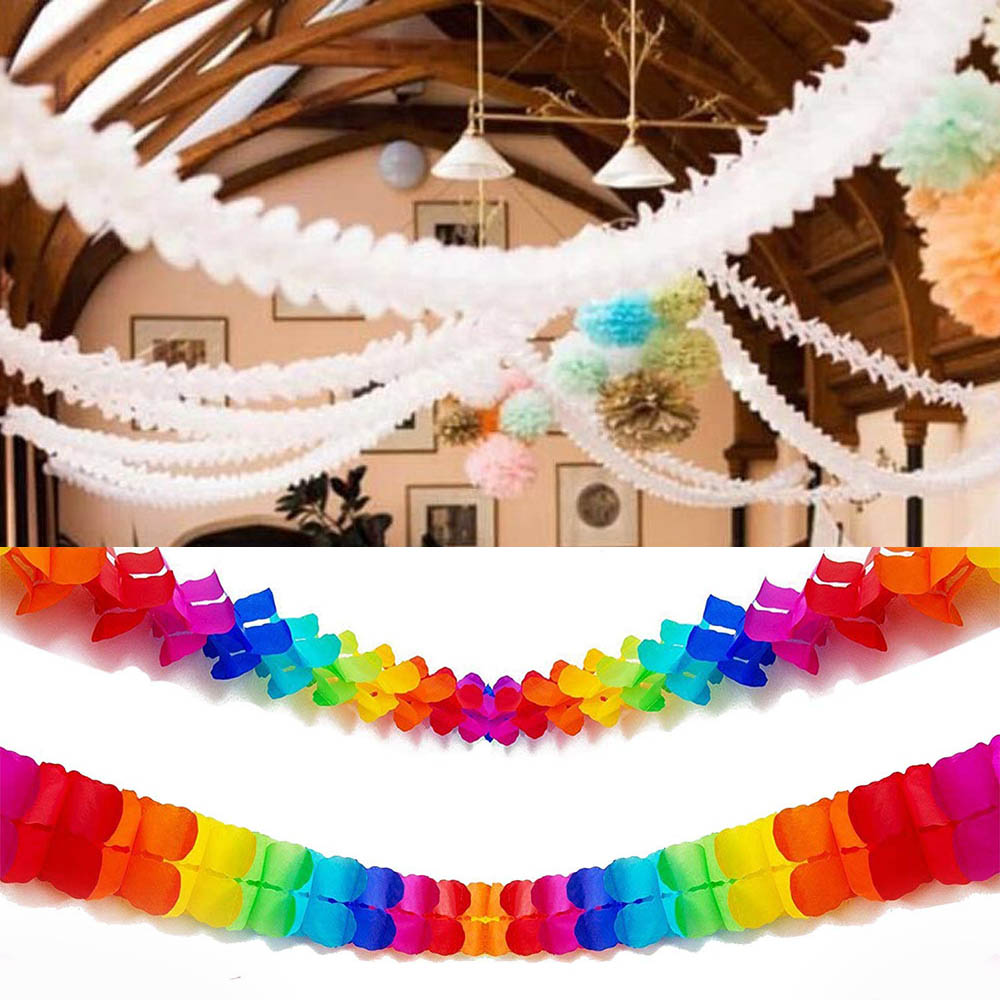 1pc 3m Four Leaf Clover Paper Garlands Craft DIY Wedding Home Decoration Reusable Bunting Baby Shower Birthday Party Supplies