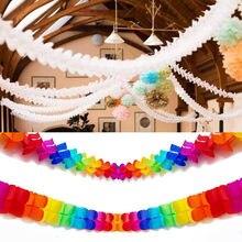 Guirlandes de papier de trèfle à quatre feuilles, 1 pièce de 3m, artisanat bricolage, décoration de maison de mariage, banderole réutilisable, fournitures de fête prénatale et d'anniversaire