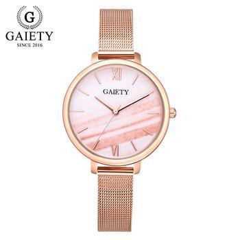 Gaiety Luxury 2 PCS Set Watch Women Rose Gold Water Drill Bracelet Watch Jewelry Ladies Female Hour Casual Quartz Wristwatches 12