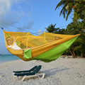 1PC Nylon Taffeta Outdoor Furniture Hammock For Camping Casual Sports 200kg Load Capacity Swing Chair With Mosquito Net