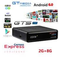 Cccam iptv Freesat GTS Pro récepteur DVB-S2 Amlogic S905D android 6.0 TV BOX 2GB 8GB + 1 an cccam Satellite TV récepteur TV Box