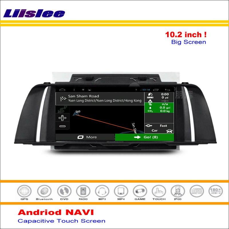 Liislee voiture Android GPS NAVI carte système de Navigation pour BMW F10 2013 ~ 2016 Radio stéréo Audio vidéo multimédia (pas de lecteur DVD)