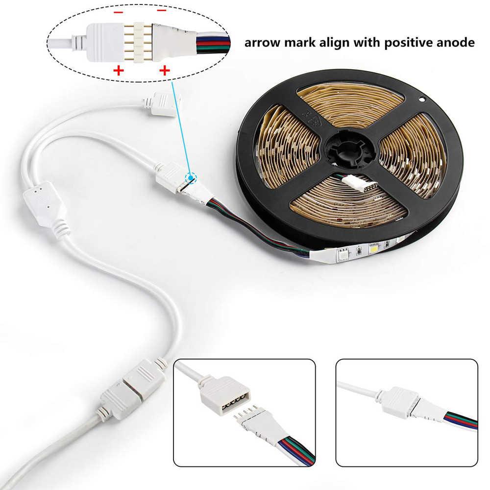 4Pin 5pin RGB rgbw przewód łączący 1 do 1 2 3 4 Splitter złącze przedłużacz kabla dla 3528 5050 RGB RGBW taśmy LED