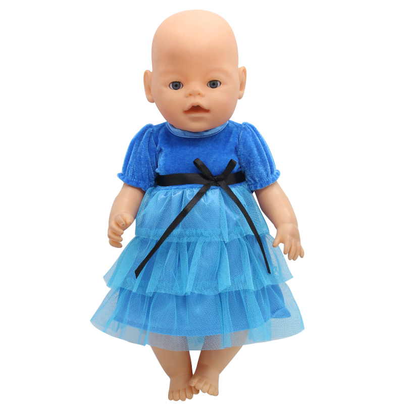Baby Doll Clothes Blue R Princess Dress Fit 43cm Baby Doll ...