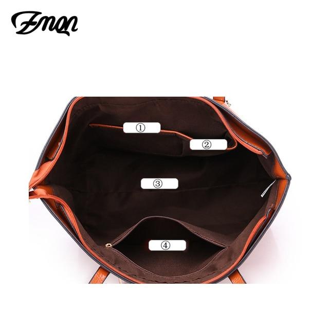 ZMQN PU Leather Large Designer Hand Bag 3