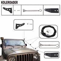 For Jeep Wrangler TJ 1997 2006 Limb Riser Kit Obstacle Eliminate Rope Protector Deflect Low Hanging Branches Brush Car Parts