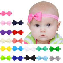2018 Cute Hair Band Headbands Baby Kids Girls Mini Bowknot Hairband Elastic Headband 6.5*3.5cm Colorful Dropshipping 0308