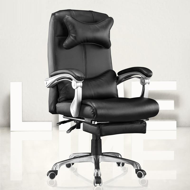 Leisure Ergonomics Staff Boss Lift Swivel Leather Computer Home Office Chair Fashion free shipping computer chair the boss chair waist support chair swivel chair lift