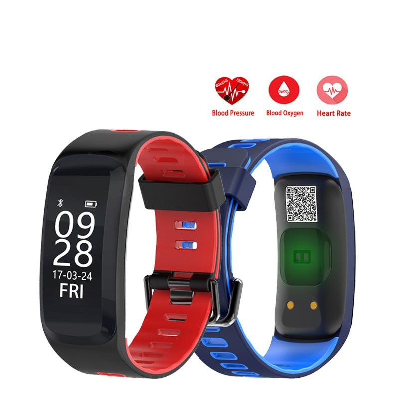 F4 Heart Rate Smart Band Fitness Bracelet Wristband Blood Pressure Blood Oxygen Monitor IP68 Waterproof Sports Smartband zucoor smart bracelet heart rate monitor pulse wristband dm58 ip68 fitness cardiaco band pedometer fitness blood pressure watch