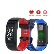 F4 Heart Rate Smart Band Fitness Bracelet Wristband Blood Pressure Blood Oxygen Monitor IP68 Waterproof Sports Smartband