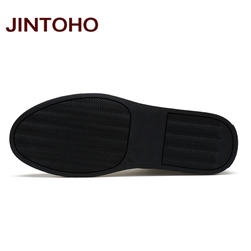 JINTOHO 2018 Casual Leather Boots Genuine Leather Men Shoes Fashion Male Shoes Winter Ankle Boots Male Boots Winter Men Shoes 5