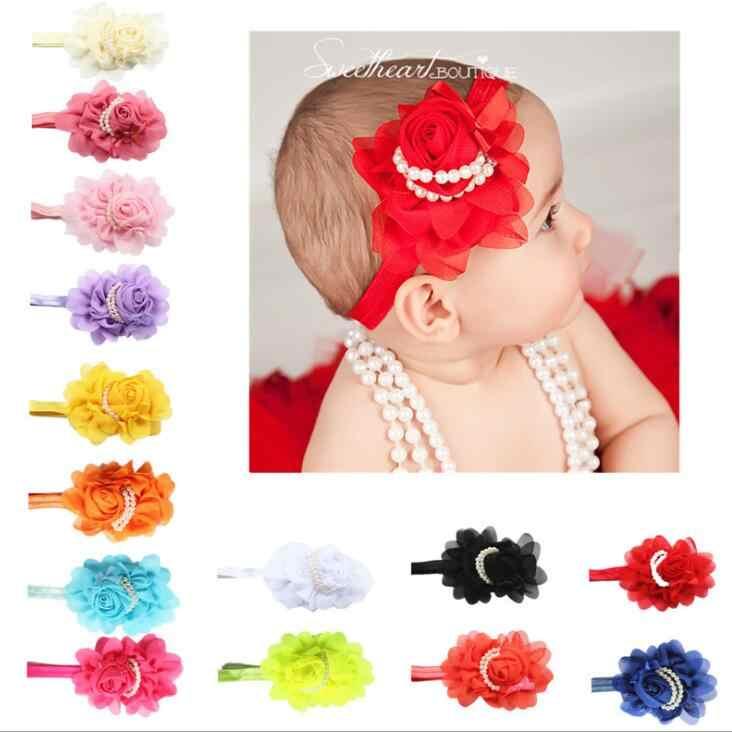 1 ชิ้น MAYA STEPAN Rose Headbands ผ้าฝ้ายเด็กทารกผมโบว์โบว์หัวทารกแรกเกิด Headwear Hairband Headwrap Pearl