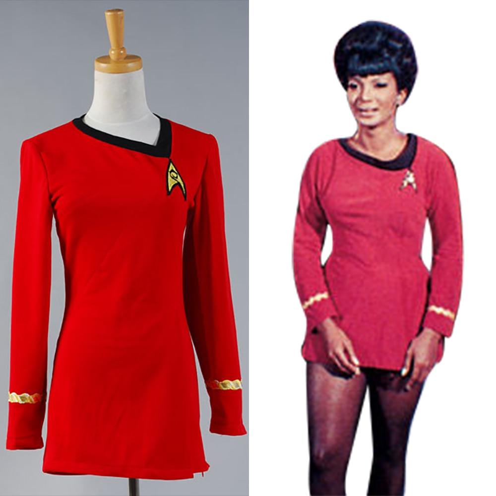 Star Trek Duty Uniform TOS Roten Kleid Partei Halloween Cosplay ...