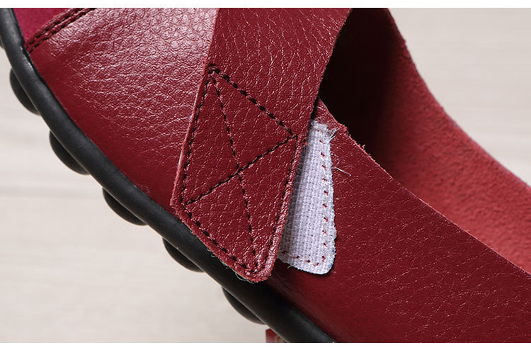 AH 1987-2019 Spring Autumn Women's Shoes Genuine Leather Woman Loafers-11