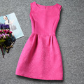 Hot Sale Solid Girl Summer Vest Dress Stylish O-neck Girl Princess Dresses Retail Vintage Kids Clothing For Girls 6-13T