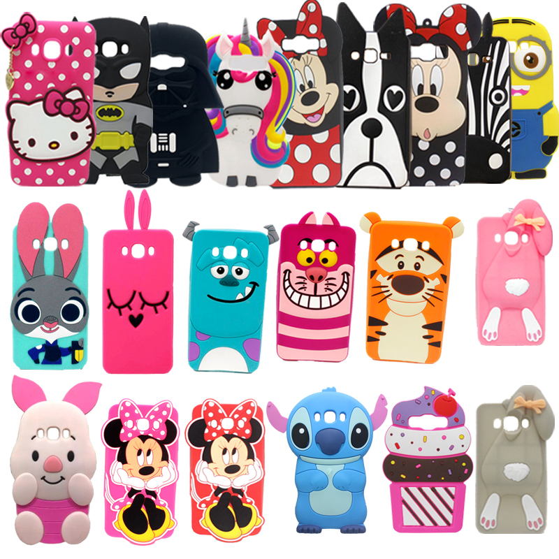 Soft Silicon 3D Cat Cartoon Cases For Samsung Galaxy