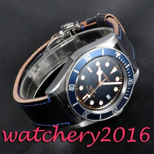 Luxury Corgeut 41mm black dial SS case sapphire glass green Luminous miyota Automatic movement Men's Watch часы nixon corporal ss matte black industrial green