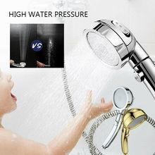 Хром высокий указатель давления турбонаддува 50% экономии воды ионный 3 фильтры душевая головка