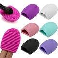 Mujeres Huevo Makup Cepillo de Lavado 1 unids Silicona Gel De Limpieza Cleaner Scrubber kits de Herramientas de maquillaje cepillo de Base Limpia