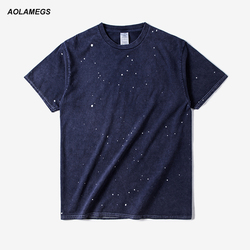 Aolamegs t shirt men vintage ink polka dot casual short sleeve tops tee 2017 summer new.jpg 250x250
