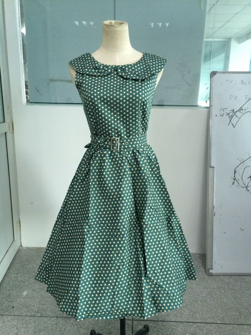 Popular Green Polka Dot Dress-Buy Cheap Green Polka Dot Dress lots ...