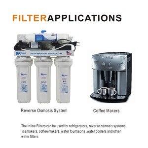 Image 5 - 4 упаковки из 10 дюймовых встроенных гранулированных картриджей с фильтром из активированного угля для холодильника системы обратного осмоса и кофеварки