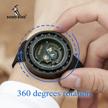 BOBO BIRD Men Watch Stainless steel Quartz Analog Bearing Timepieces Women Male in Gifts box erkek kol saati relogio masculino