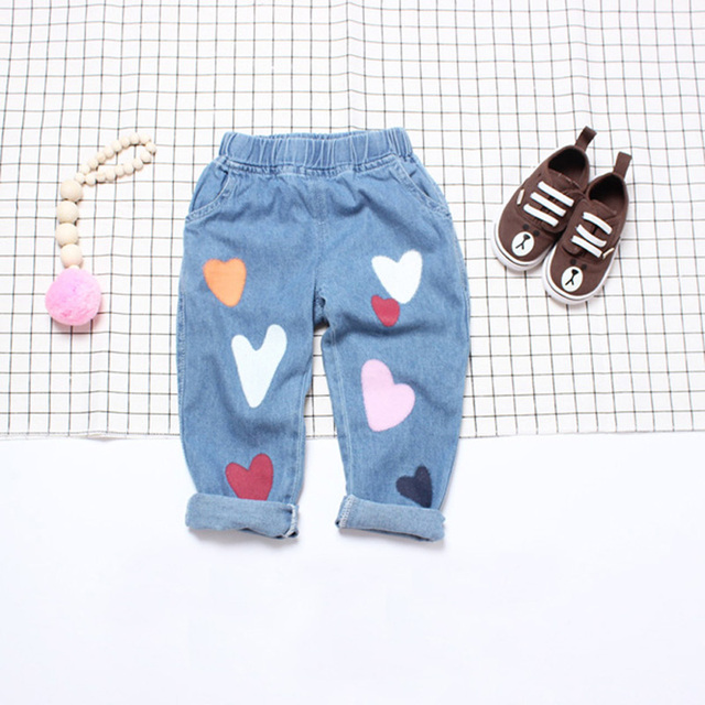 2016 spring / autumn fashion printing kids pants girls baby boys jeans children jeans for boys casual baby clothes