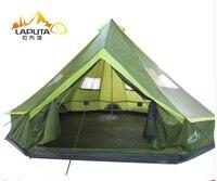 LAPUTA Ultralarge 8 12 Persoon 500 CM * 500 CM Waterdichte Camping Party Familie Tent Grote Tuinhuisje Zon Onderdak
