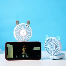 4 in 1 Portable Mini Fan with Mobile Phone Holder Adsorption Handheld 2 Speed Adjustable Air Cooling Fan with LED Color Light