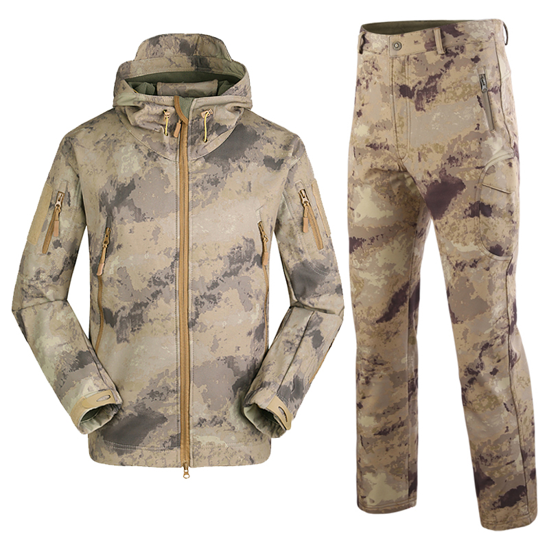Outdoor Jungle Ruins camouflage Hunting Hiking Clothes Military Tactical Jacket Breathable Waterproof Hooded Army Camo Clothing