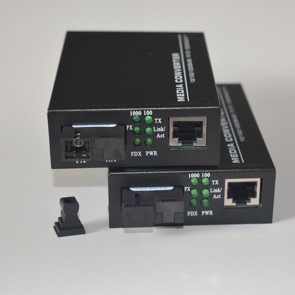 Высокое качество 10/100/Gigabit Ethernet 1000 Мбит до Волокно media Конвертеры для системы видеонаблюдения 1 пара