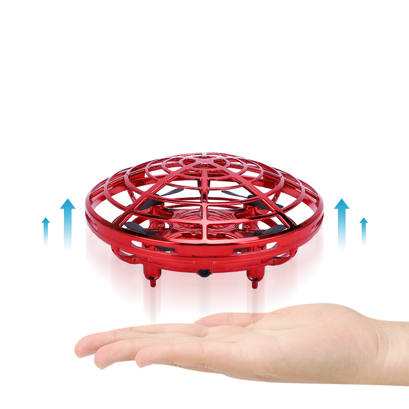 Infrared Sensor 100% Safe Hand Flying Ufo Hover Helicopter 360 Degree Micro Drone Auto Pilot Inductive Toys For Small Child Baby(China)