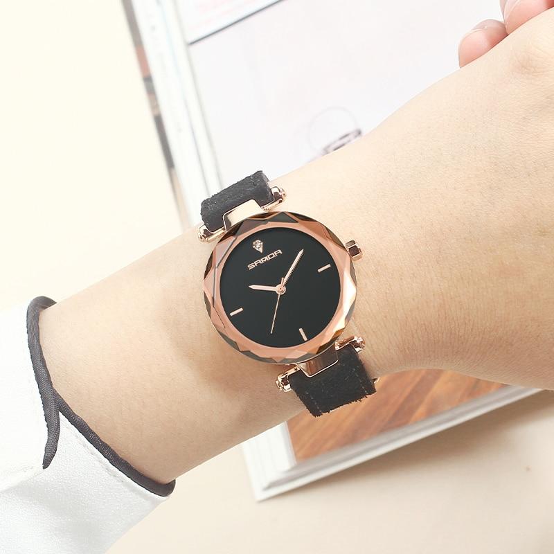 SANDA 2018 Wrist Watch Women Watches Ladies Luxury Brand Famous Quartz Wristwatch For Female Clock Relogio Feminino Montre Femme