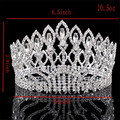 New Fashion Big European Bride Wedding Crown Austrian Crystal Large Round Queen Crown Wedding Hair Accessories HG-G89