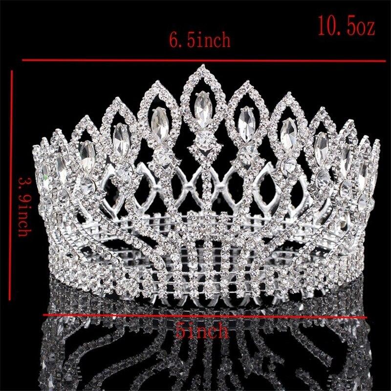 New Fashion Big European Bride Wedding Crown Austrian Crystal Large Round Queen Crown Wedding Hair Accessories HG-G89