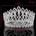 Nueva Moda de Novia de la Boda de La Corona de Cristal Austriaco Grande de Europa Gran Ronda Corona de La Reina del Pelo de La Boda Accesorios HG-G89
