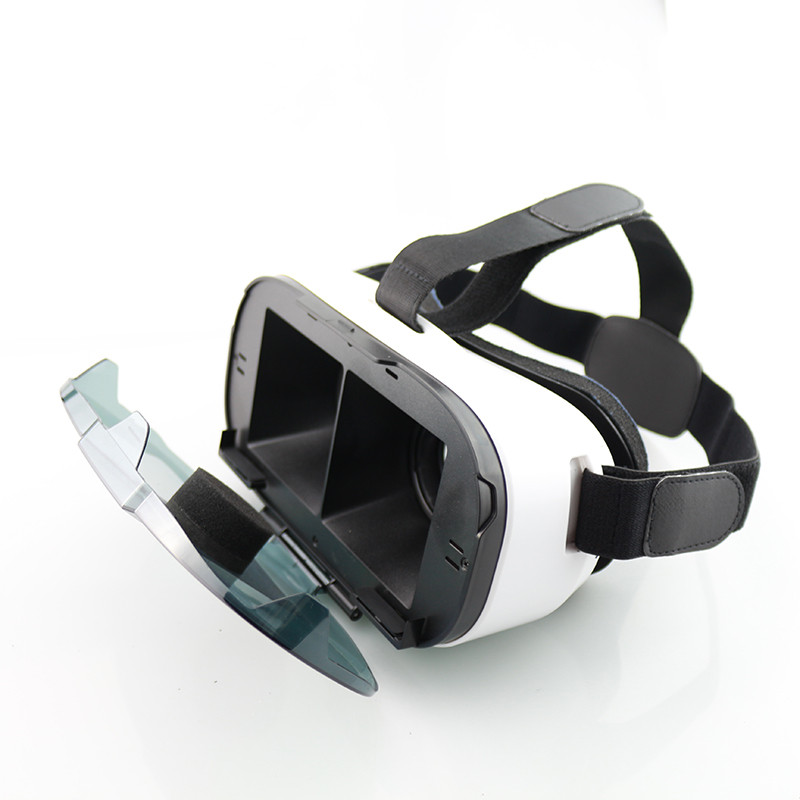 New <font><b>FIIT</b></font> <font><b>VR</b></font> 3D <font><b>Virtual</b></font> <font><b>Reality</b></font> Video <font><b>Helmet</b></font> <font><b>VR</b></font> <font><b>Glasses</b></font> for 4.0 ~ 6.5 inch Smartphone <font><b>Lightweight</b></font> Ergonomic Design