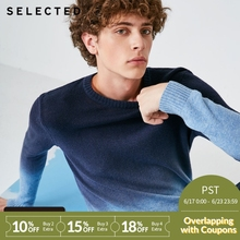 SELECTED male pure wool gradual change business casual sweater sweater S|418425508