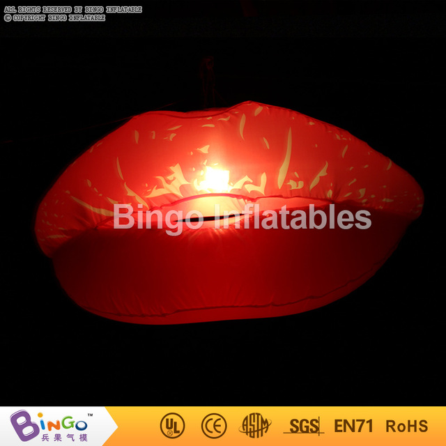 Eye-Catching Inflatable sexy Lip with led lighting/led inflatable lighted lips flashing toy