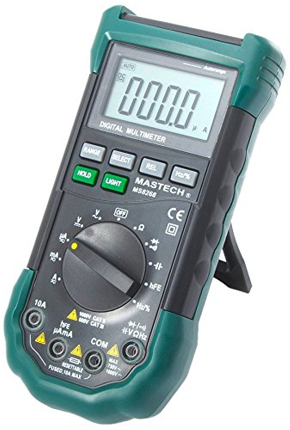 MASTECH MS8268 protezione Auto Gamma Multimetro Digitale ac/dc amperometro voltmetro di ohm Frequenza tester elettrico diodo rivelatore