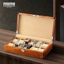 Новинка, коробка для часов 6/12, коробка для хранения часов, витрина из твердой древесины, сохраняющая коробки с фортепиано, для мужчин, подарок на день рождения