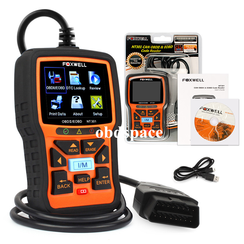 Foxwell NT301 OBD2 OBDII Engine Scanner Auto Code Reader Diagnostic Scan Tool