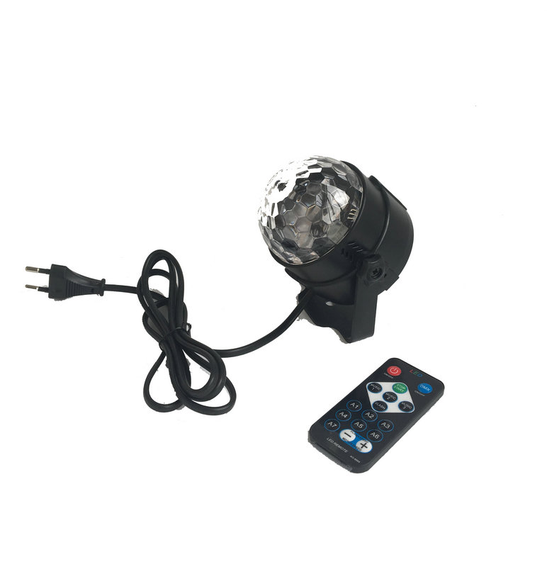 Rasha RGB IR Remote LED Stage LED Crystal Magic Ball Sound Control Laser Stage Effect Light Party Disco Club DJ Light Mini Laser