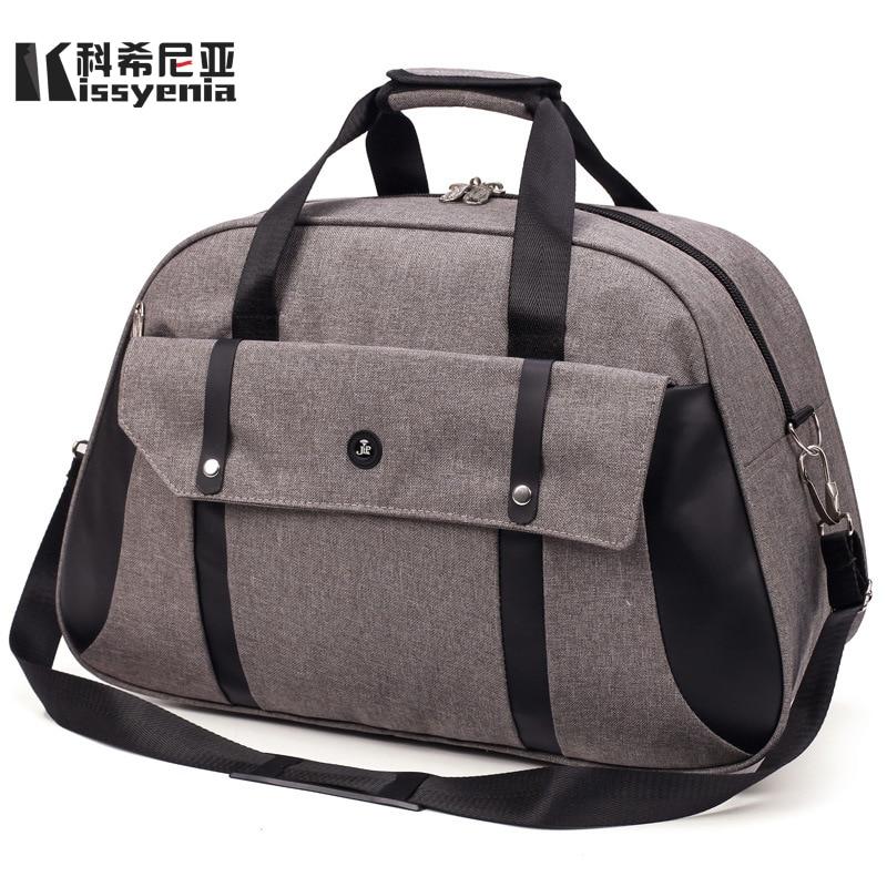 Kissyenia New Men High Quality Nylon Bucket Bag Vacation Trip Large Capacity Bag Women Travel Holiday Portable Bag KS1128