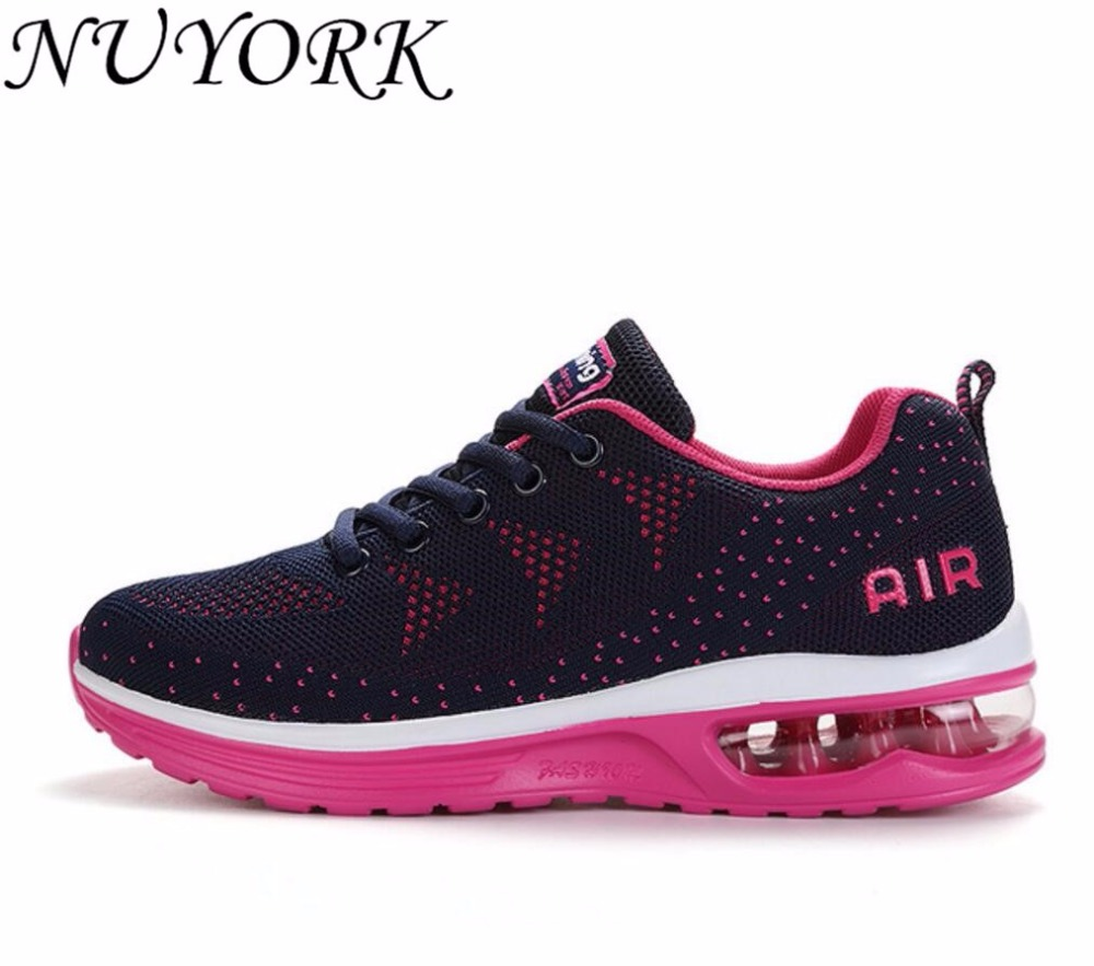 NUYORK New Listing Hot sales Breathable Fly line men  & women running shoes sneakers lovers sports AIR shoes 835-A35