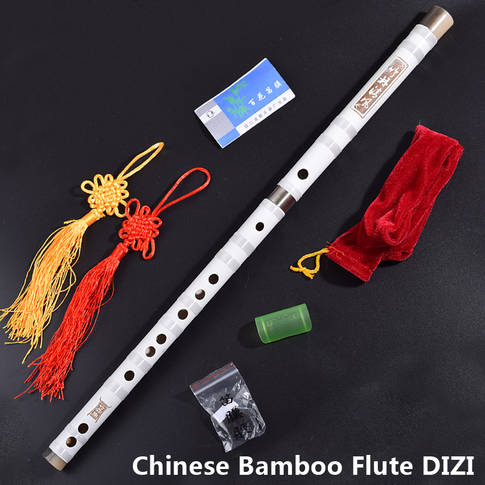 Chinese Bamboo Flute Dizi Traditional Transverse Bambu Flauta Woodwind Musical Instrument for Beginners C/D/E/F/G Key White Gift 16 hole c key metal flute chinese dizi musical instrument professional flauta travesera woodwind silver flute white copper dizi